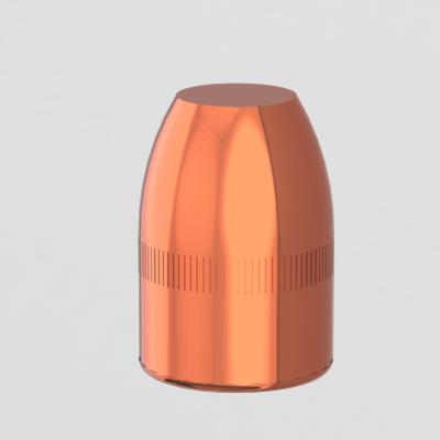 .38 caliber 125 grain flat point copper plated bullet reload