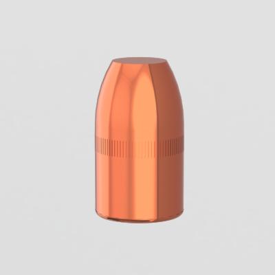 .38 caliber 157 grain flat point copper plated bullet reload