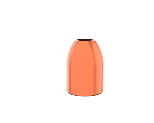 40 caliber-165 grain- hollow point-copper-plated-bullet